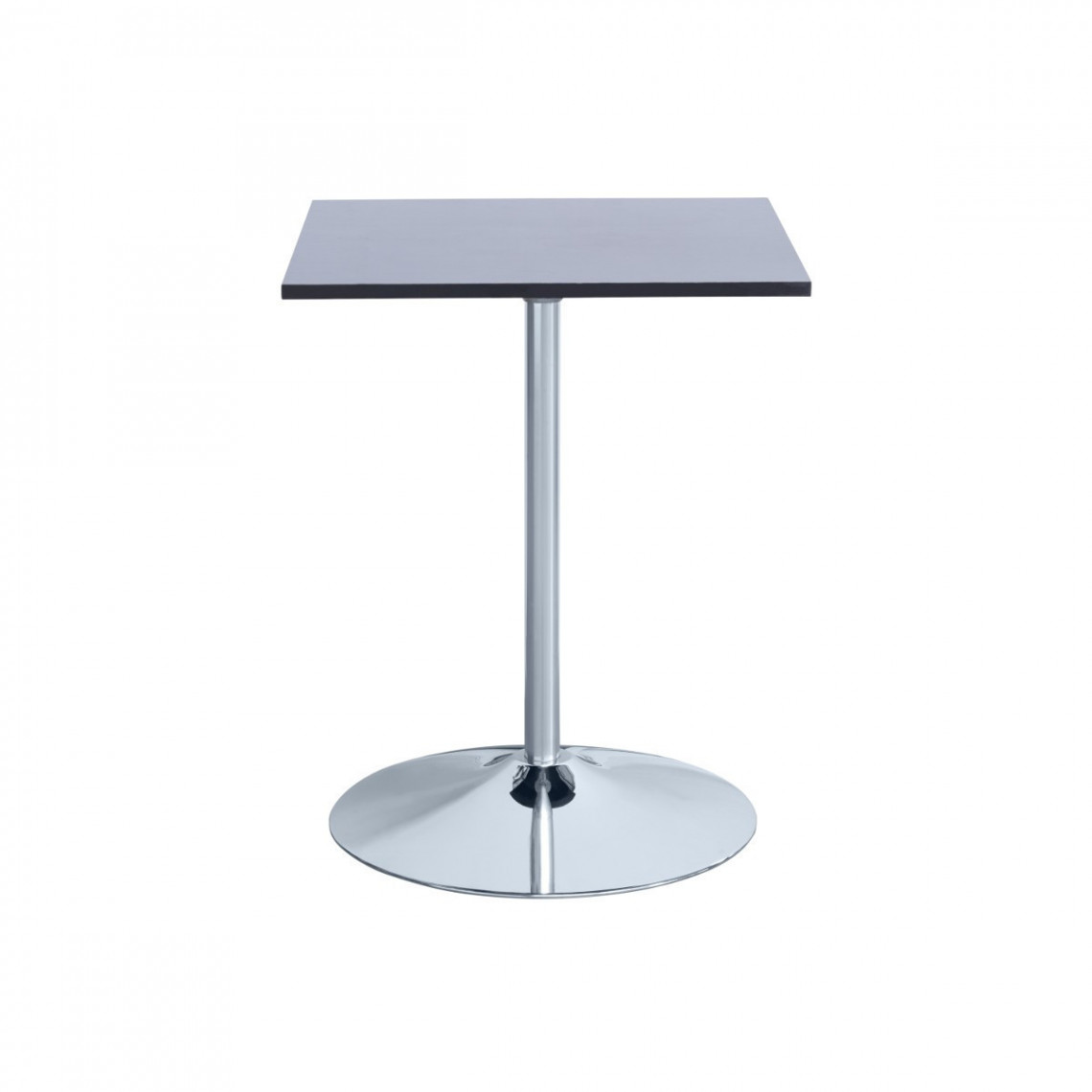 Table carrée pied central