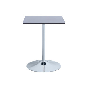 Table carrée pied central
