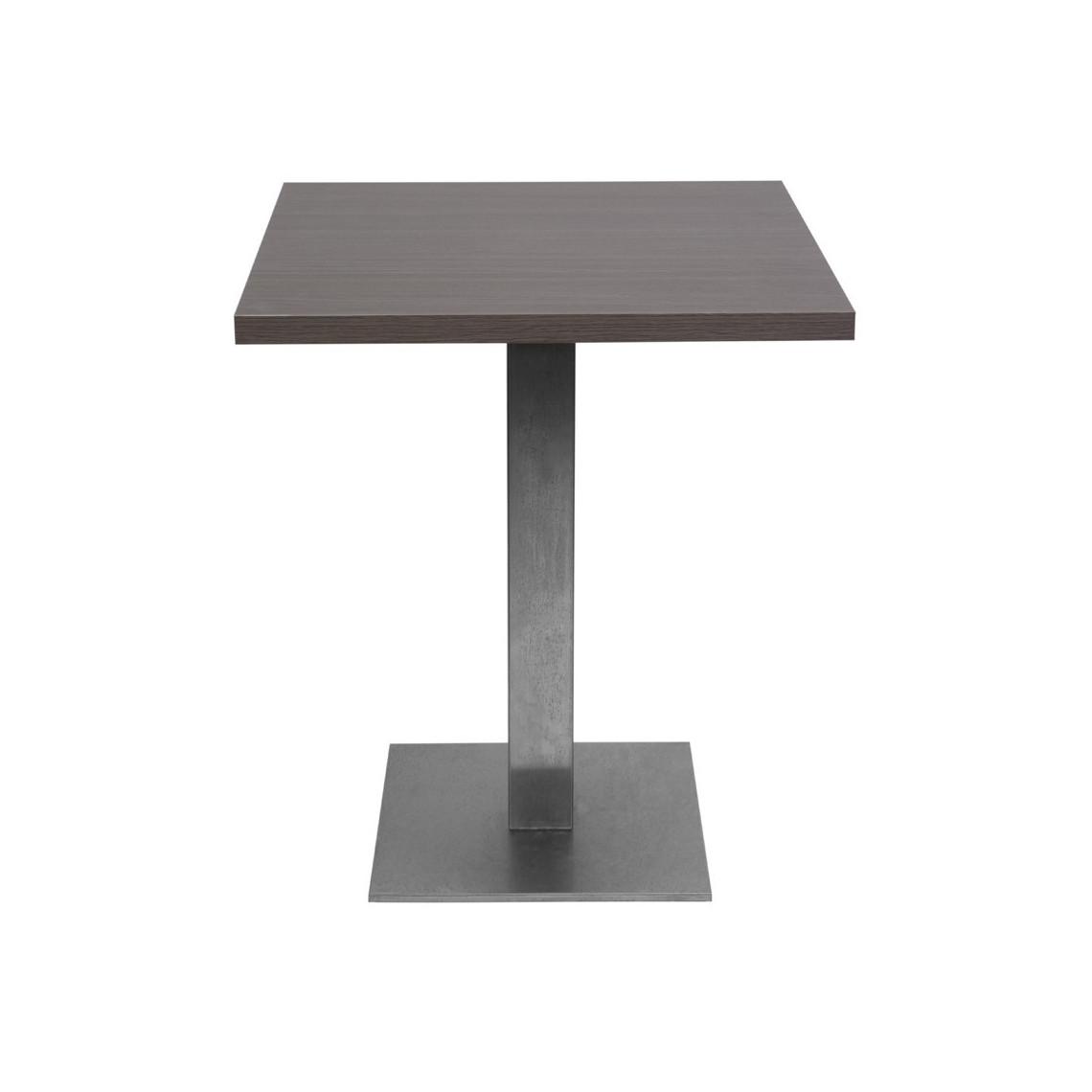 Table Jet Set wengé mat (70 x 70 cm)