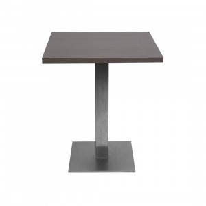 Table Jet Set wengé mat (70 x 70 cm)
