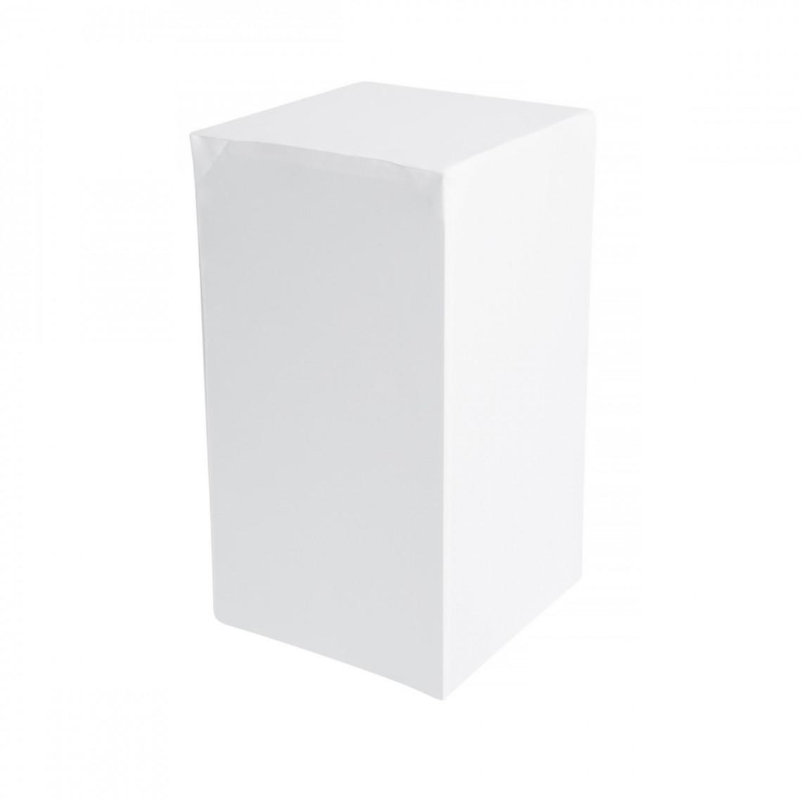 Housse Zoe (M1) blanche pour colonne Luxor carrée (H72)