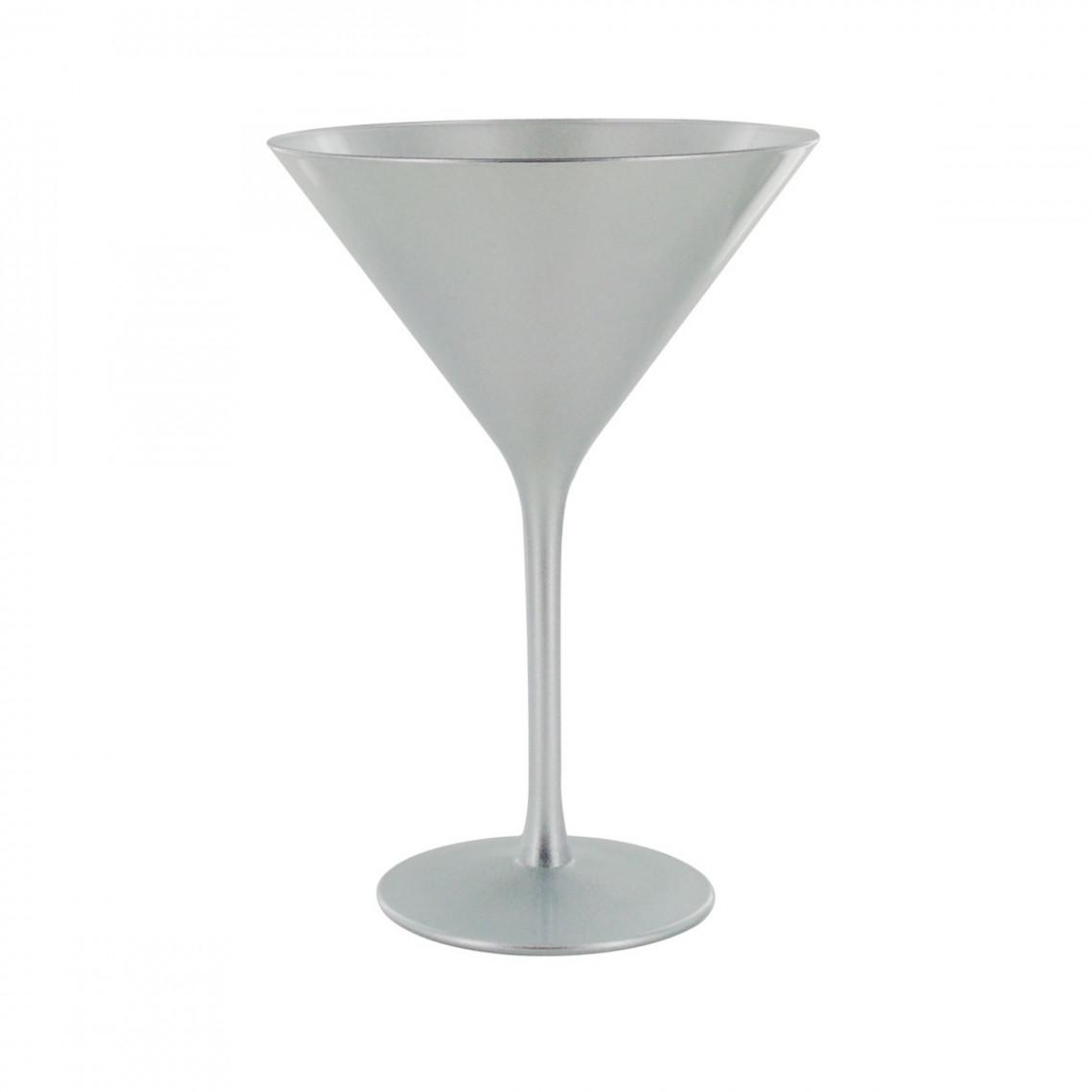 Verre à martini argent