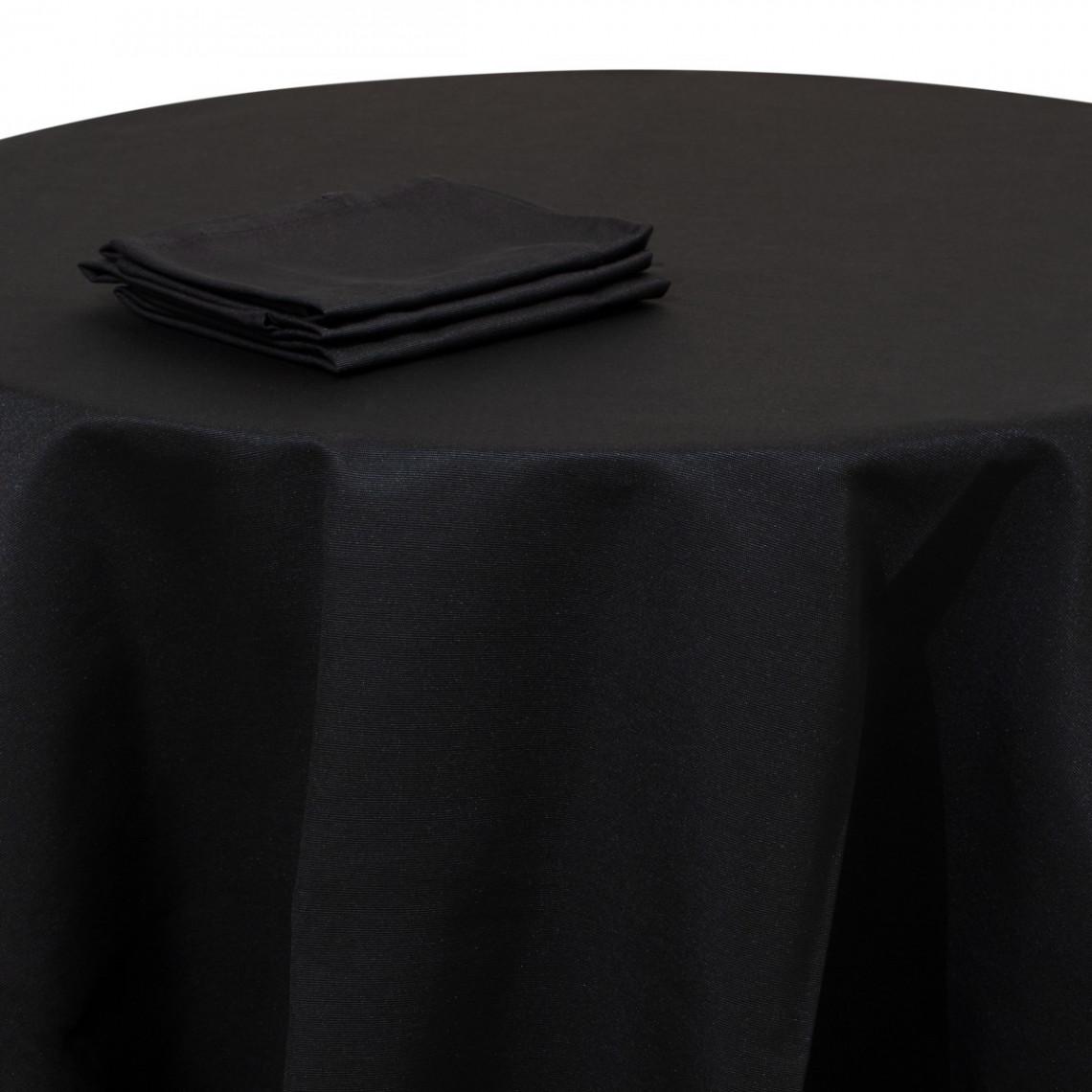 Nappe buffet Monarque noire (M1)