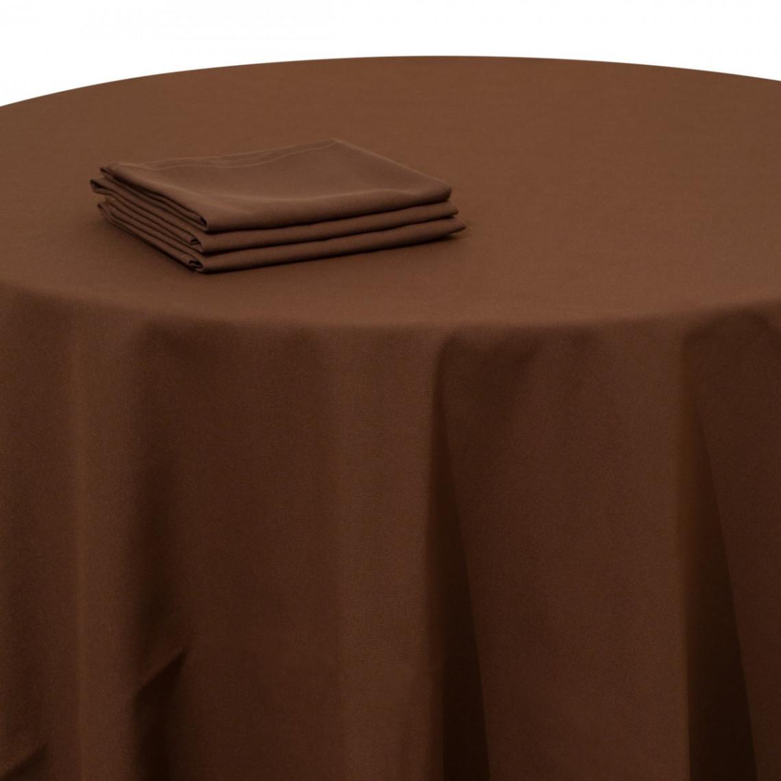 Nappe table Rita chocolat
