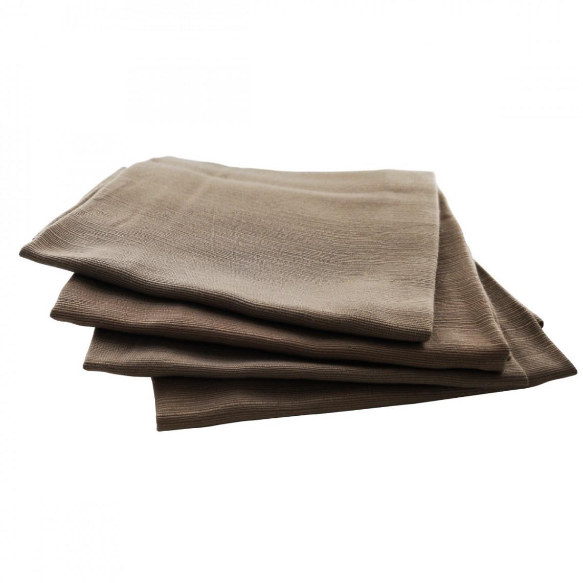 Serviette de table Sissi taupe (M1)