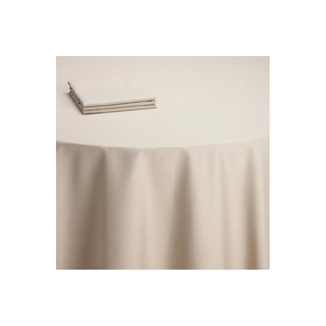 Nappe buffet Daisy taupe clair