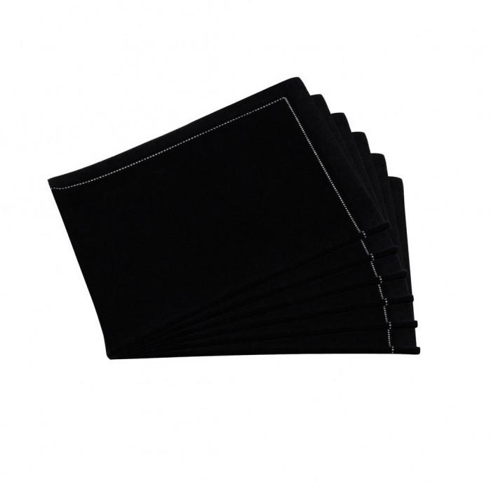 Serviettes tissu Quickstep noires (x30)