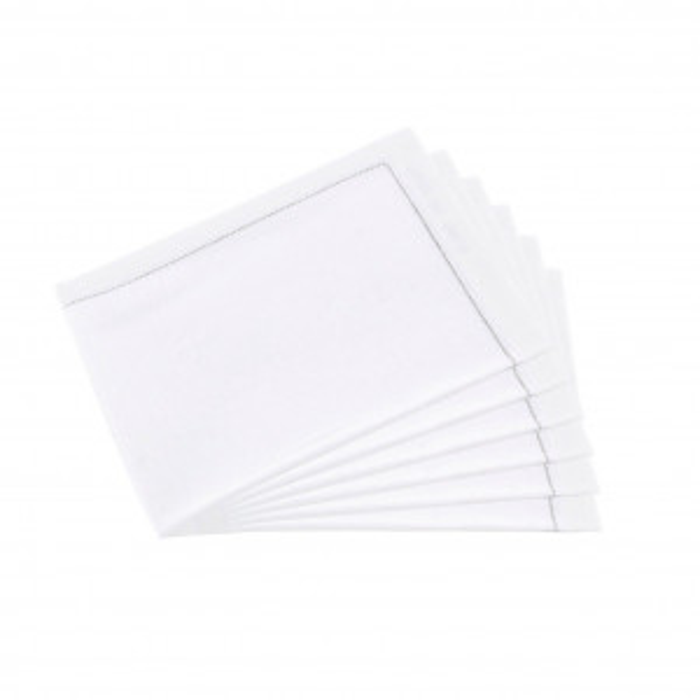Serviettes tissu Quickstep blanches (x30)