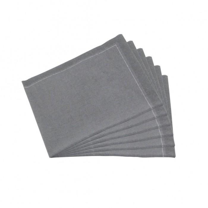 Serviettes tissu Quickstep grises (x30)