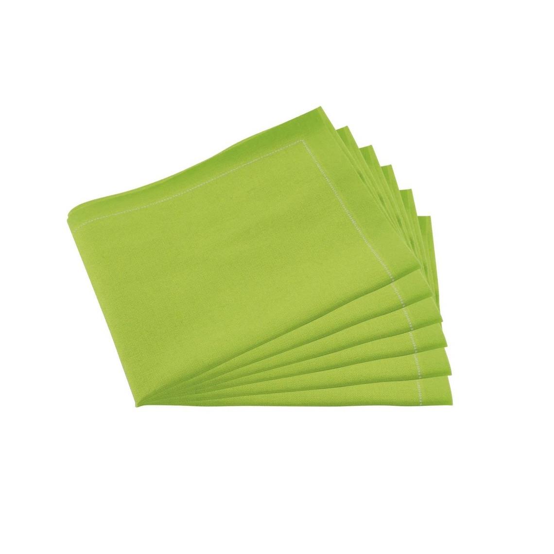 Serviettes tissu Quickstep vertes (x30)