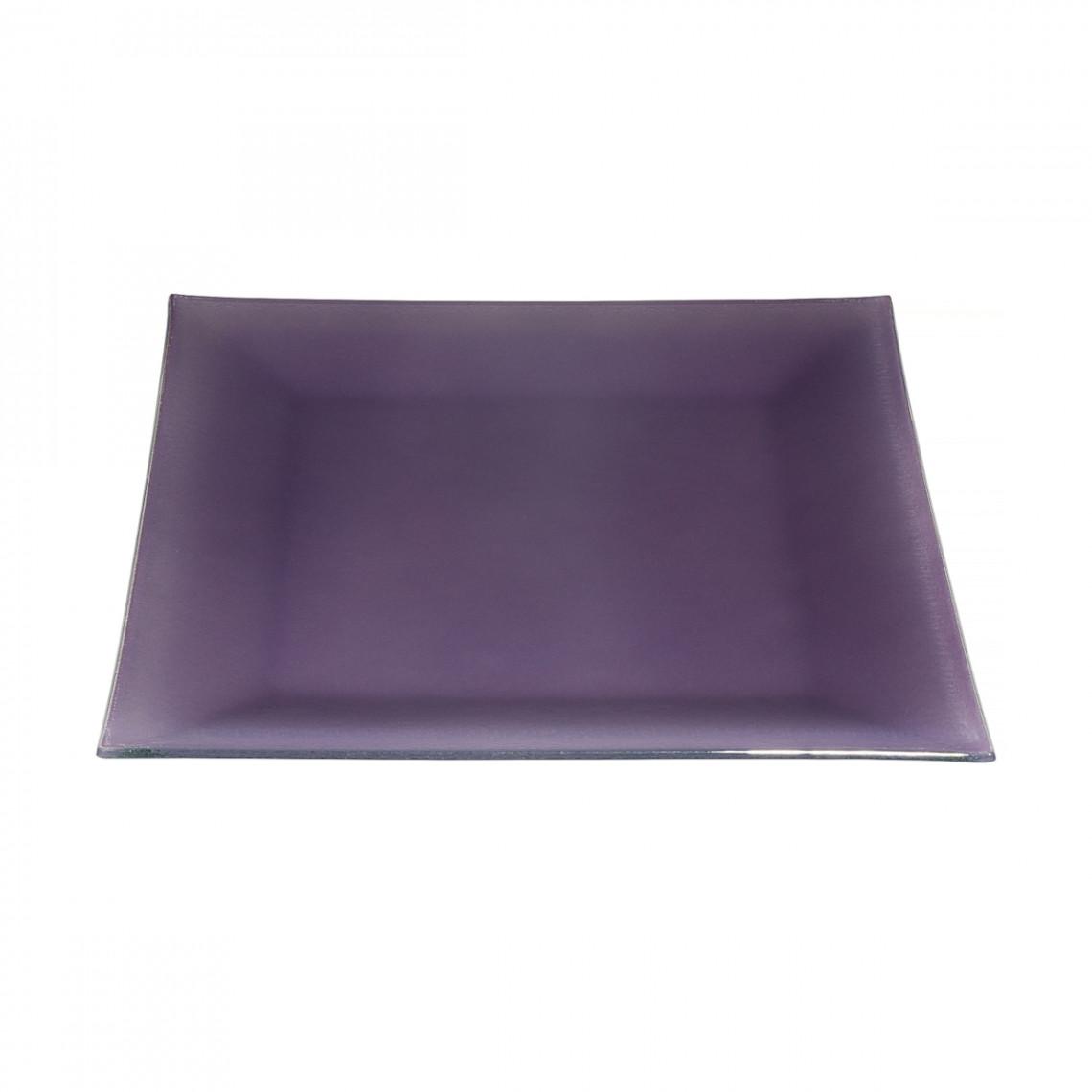 Assiette cocktail Calypso violette (31 x 31 cm)