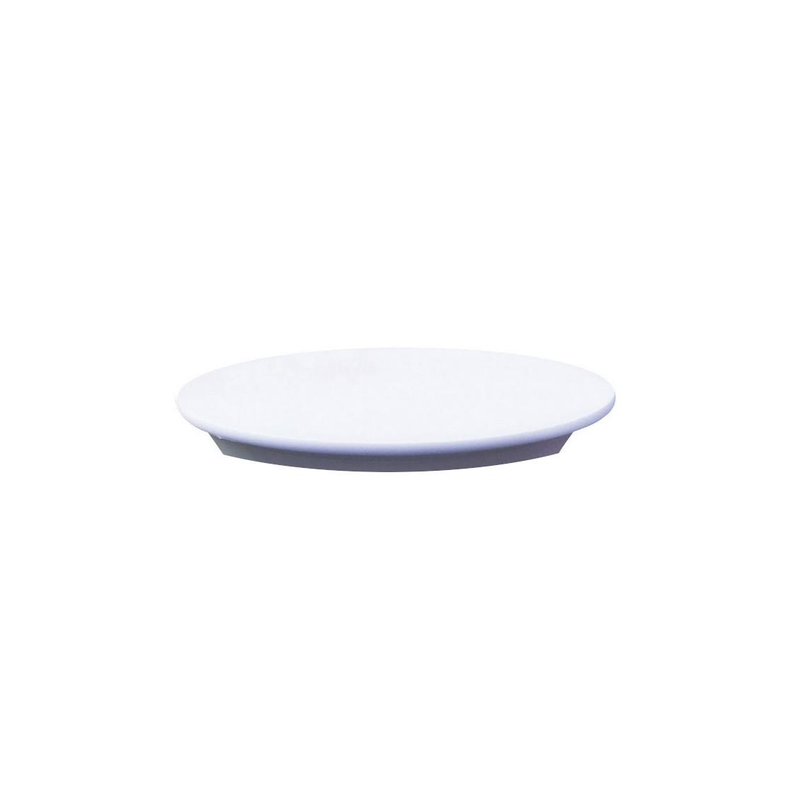 Chapeau pour mange-debout rond blanc