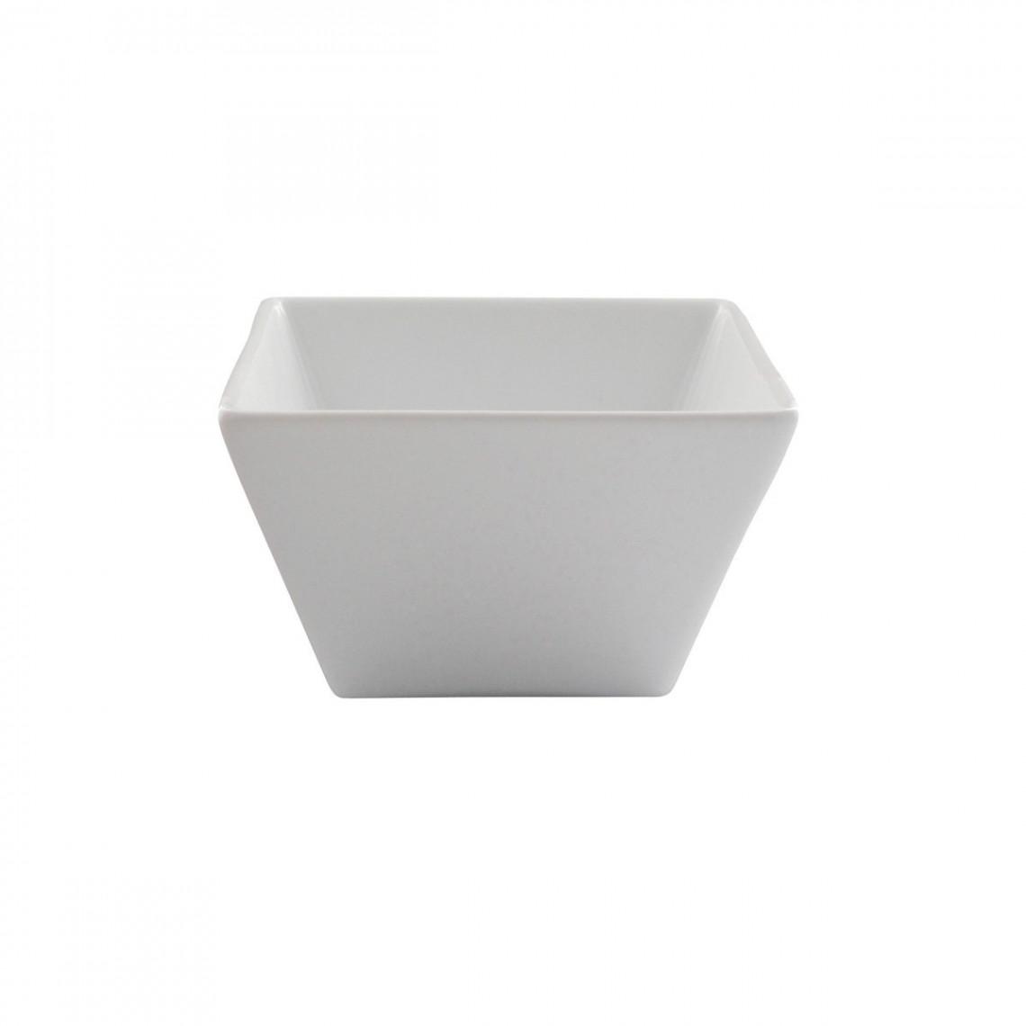 Bol carré Tokyo blanc (22 cl)