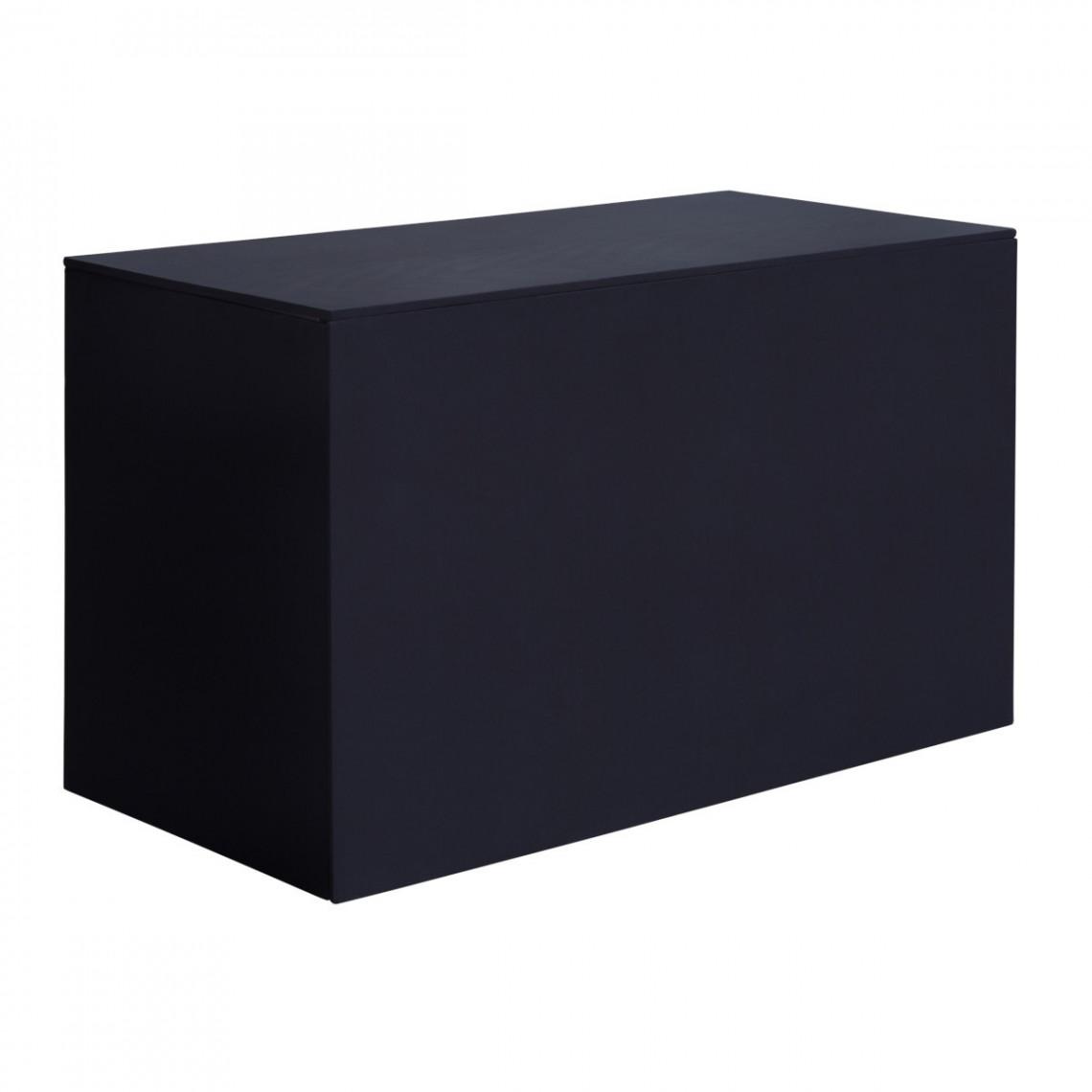 Buffet Universalis coton gratté noir
