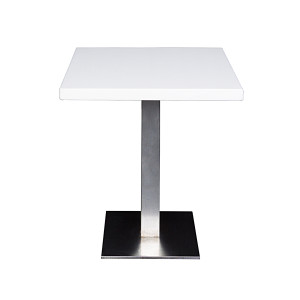 Table Jet Set blanche  (70 x 70 cm)