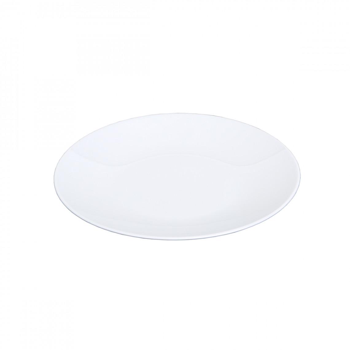 Assiette repas Boléro blanche