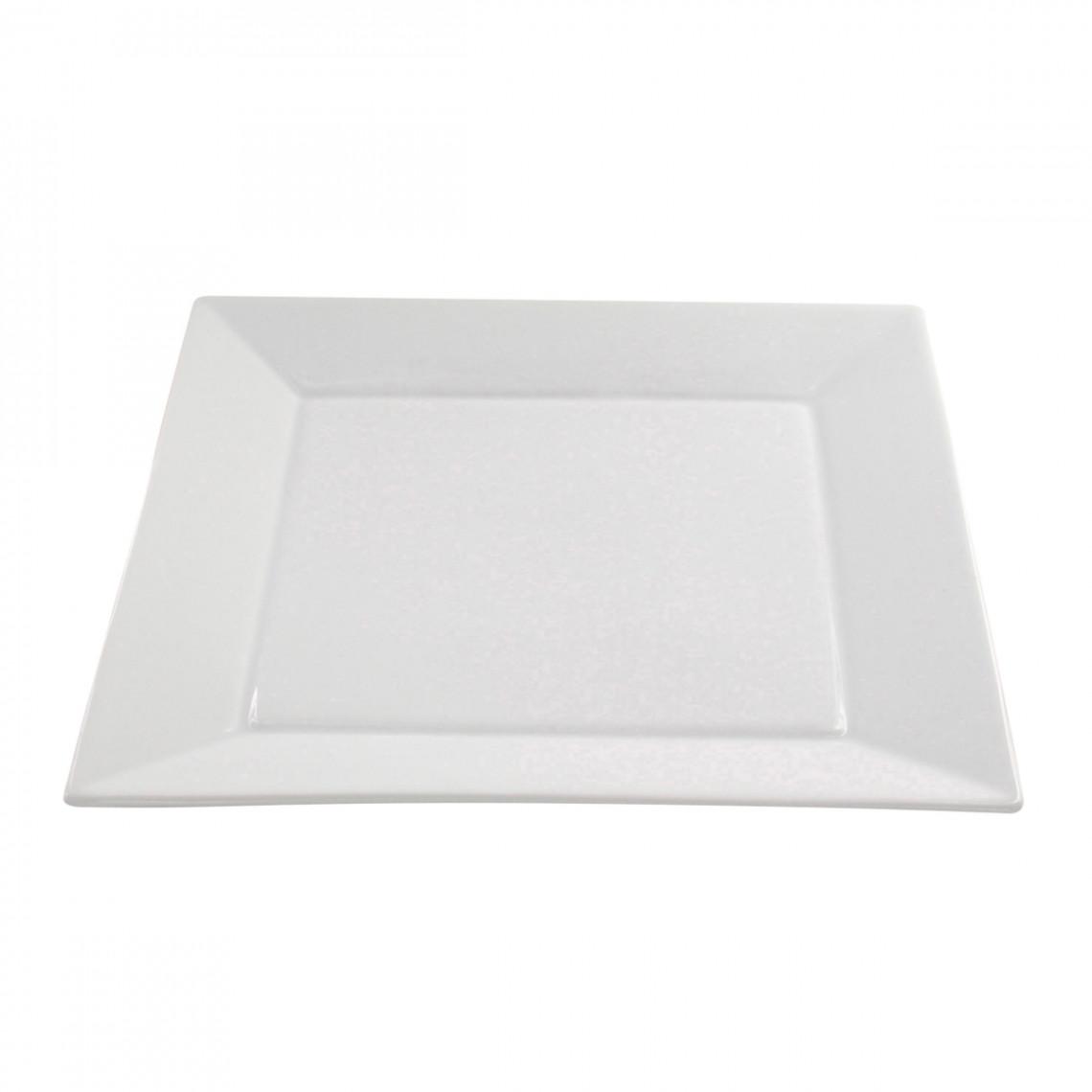 Assiette présentation Tokyo blanc (31 x 31 cm)
