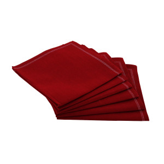 Serviettes tissu Quickstep rouges (x30)