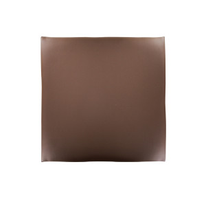 Assise pour tabouret City, simili cuir chocolat