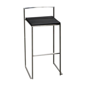 Tabouret City en inox (assise à choisir en plus)