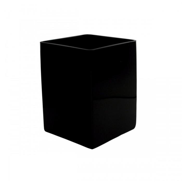 Réhausse Cascade carrée noire (H20)