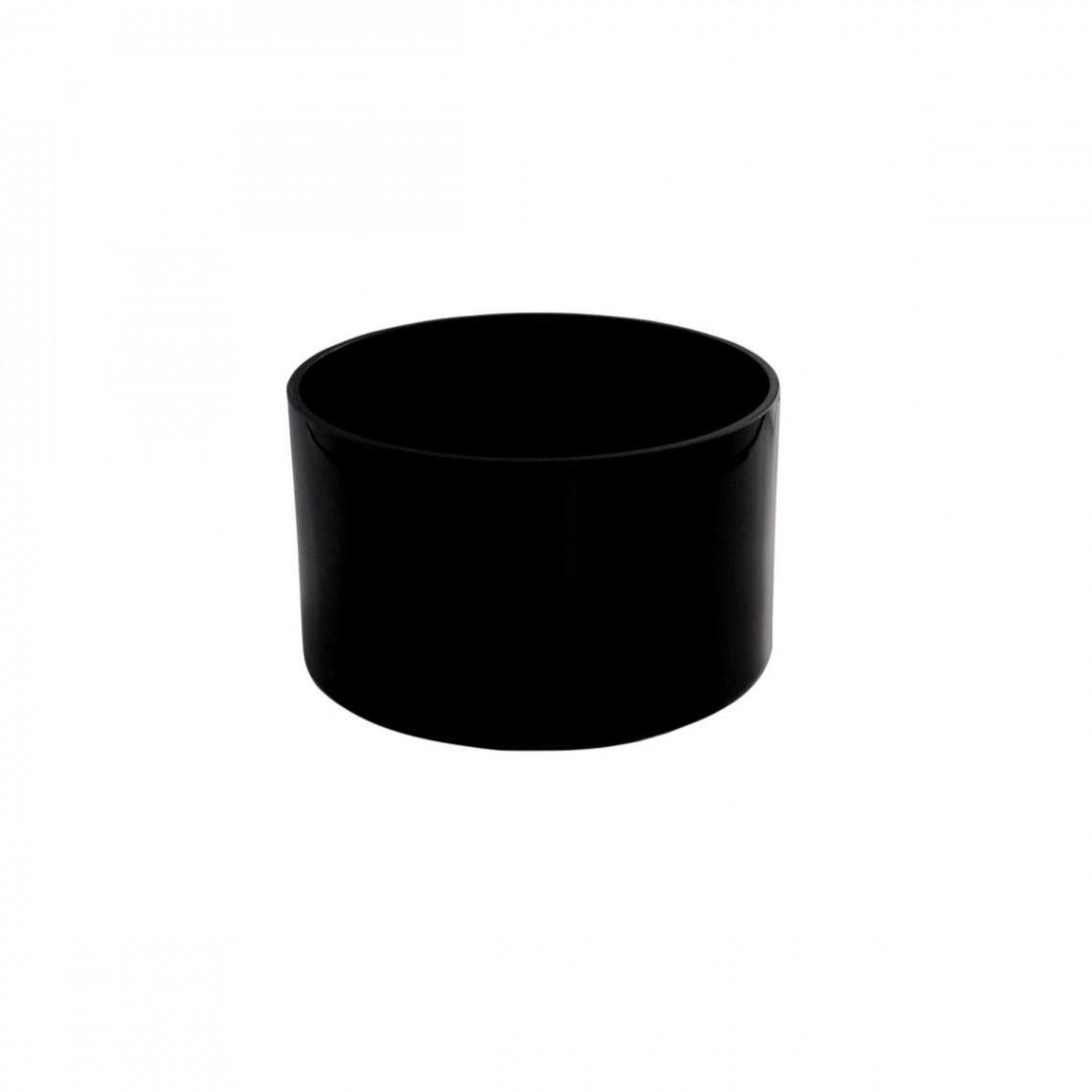 Réhausse Cascade ronde noire (H10)