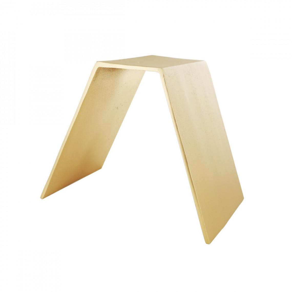 Réhausse V aluminium or (H8)