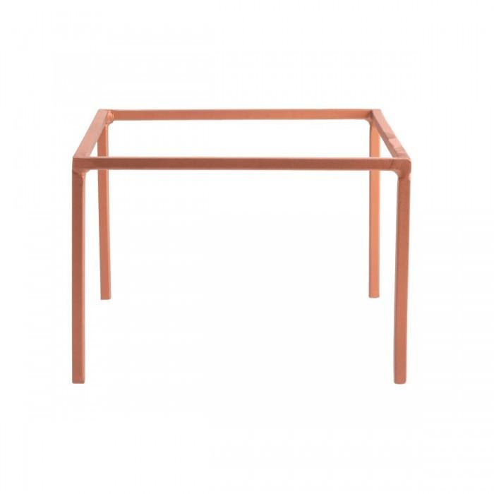 Réhausse fer forgé carrée cuivre (H15