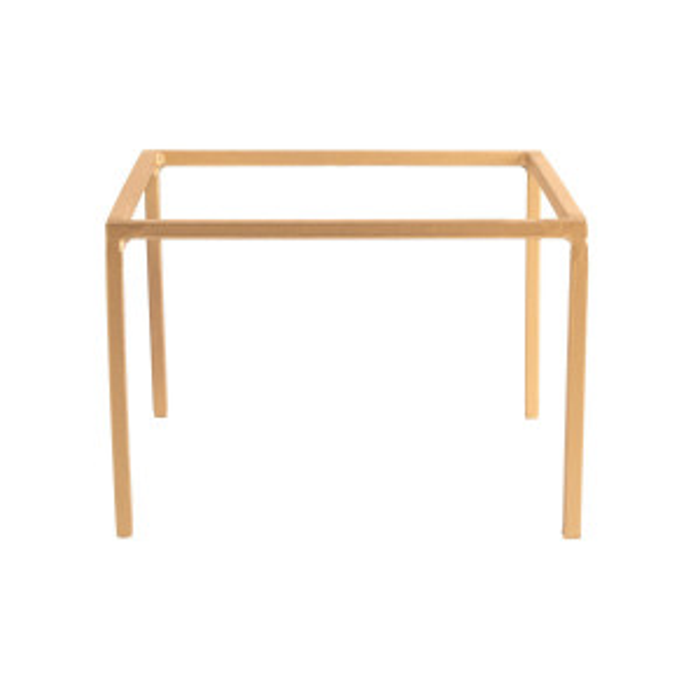 Réhausse fer forgé carrée or (H15