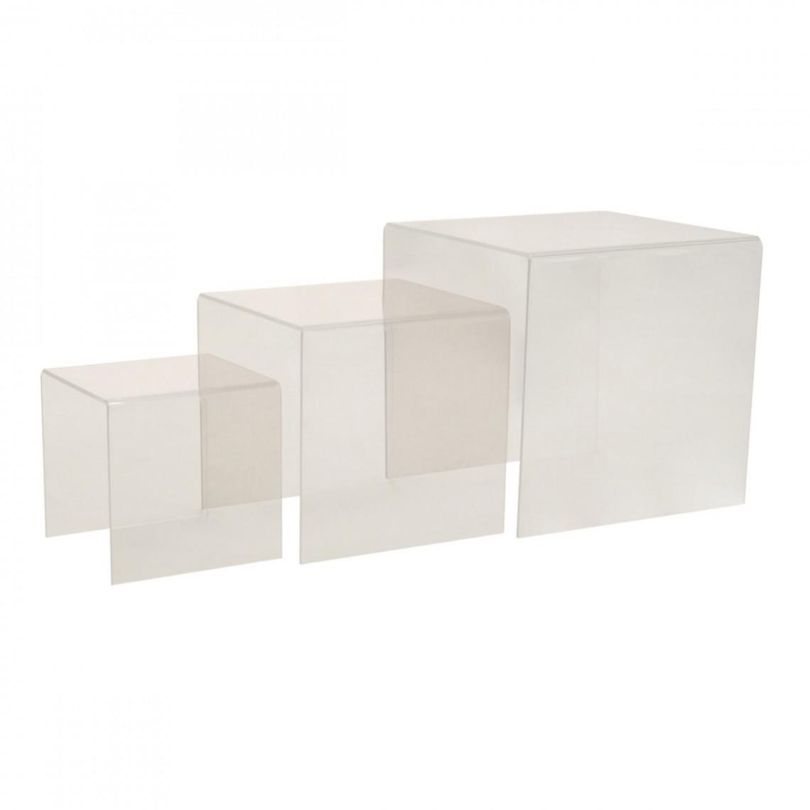 Kit gigogne plexi Dita transparent (3 éléments)