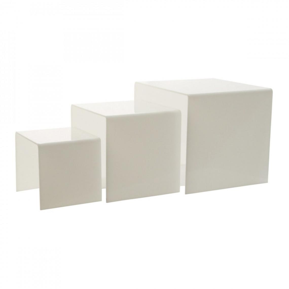 Kit gigogne plexi Dita blanc (3 éléments)