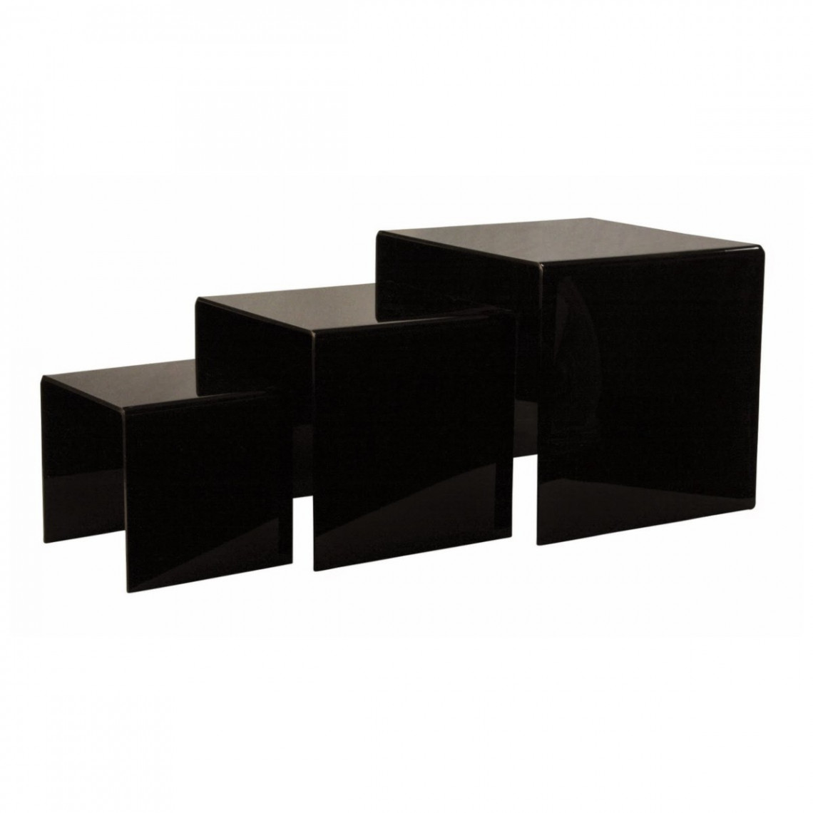 Kit gigogne plexi Dita noir (3 éléments)