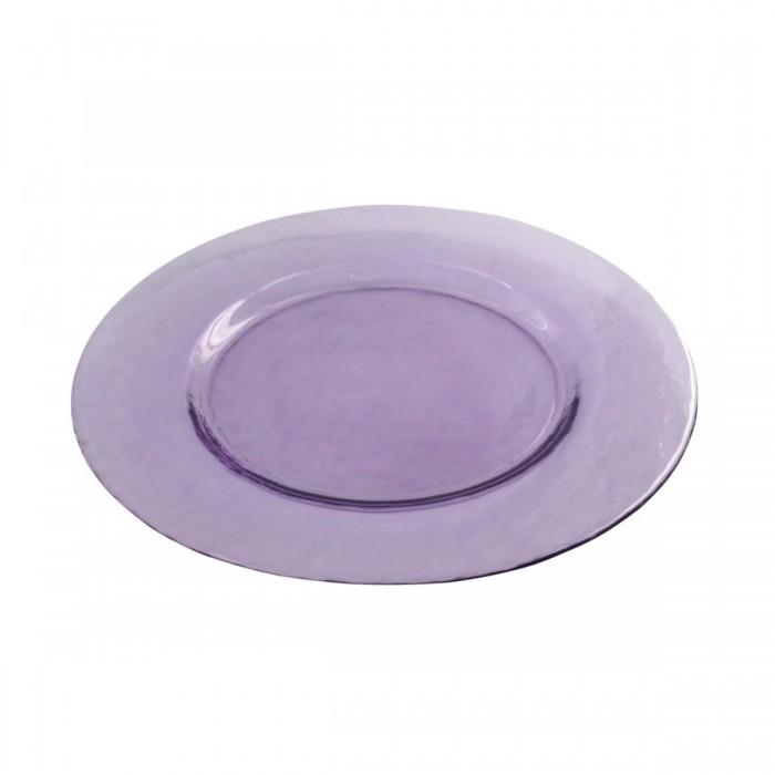 Assiette cocktail Galaxie translucide violette (Ø34)