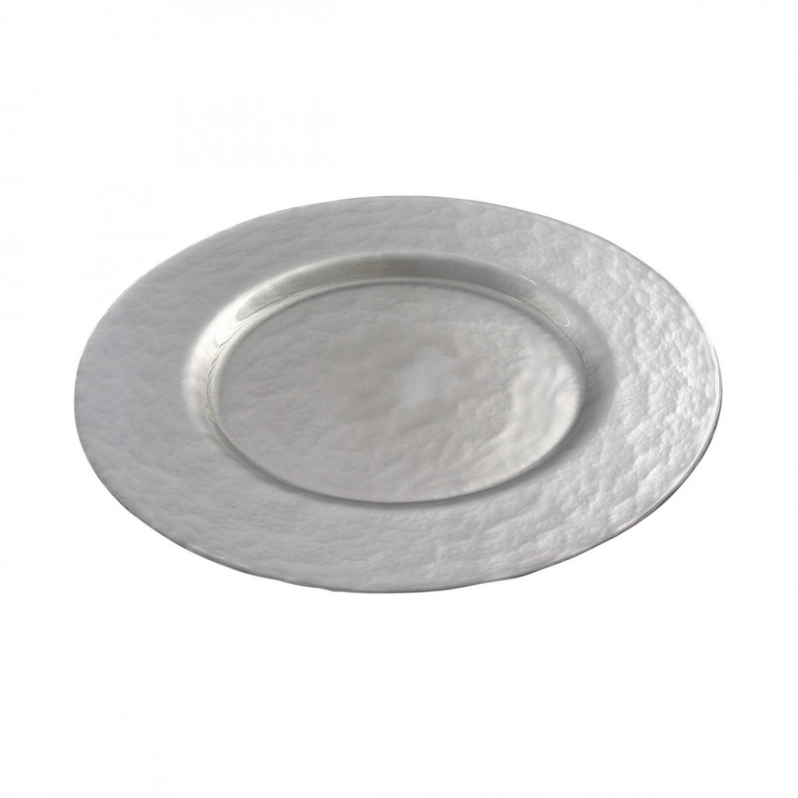 Assiette cocktail Galaxie opaque argent (Ø34)