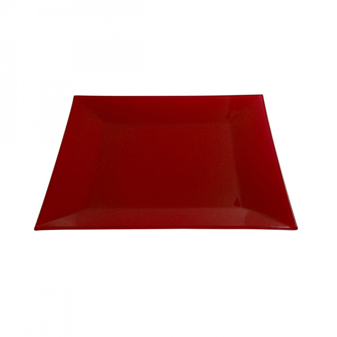 Assiette cocktail Calypso opaque rouge (31 x 31 cm)