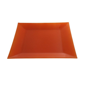 Assiette cocktail Calypso opaque orange (31 x 31 cm)