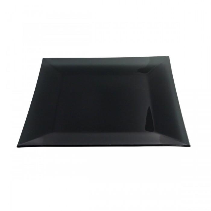 Assiette cocktail Calypso opaque noire (31 x 31 cm)