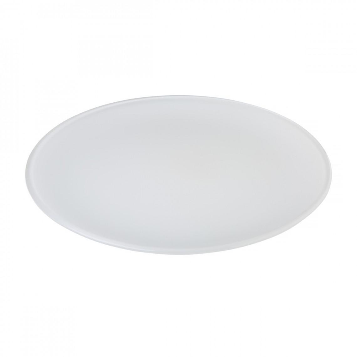 Assiette cocktail Optic blanche (Ø32
