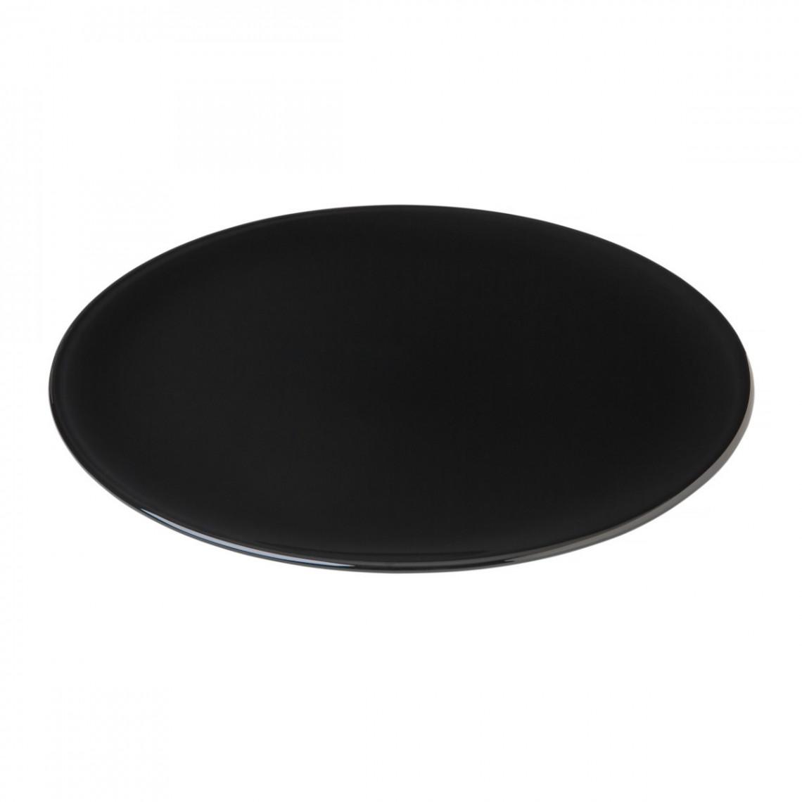Assiette cocktail Optic noire (Ø32
