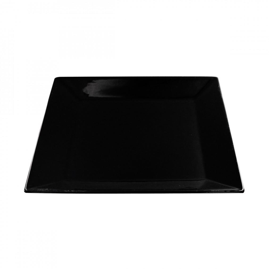 Assiette présentation Tokyo noire (31 x 31 cm)