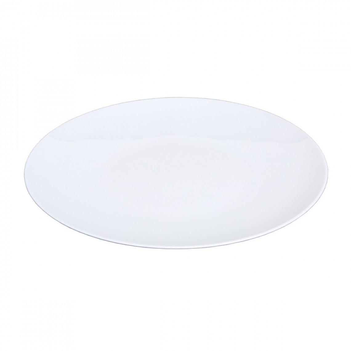 Assiette présentation Boléro blanche (Ø31