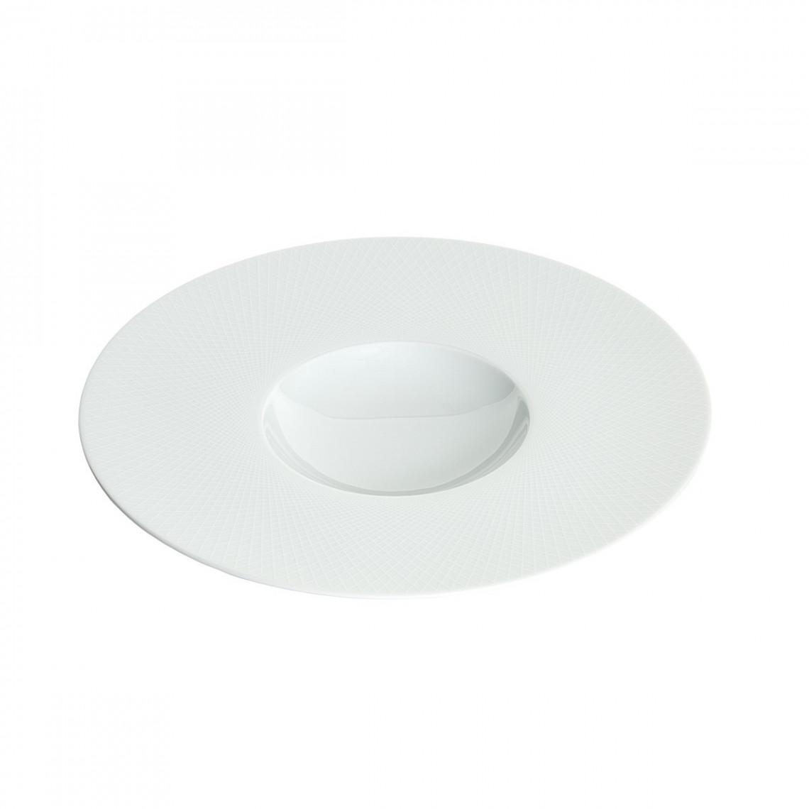Assiette repas Graphic blanche (Ø27