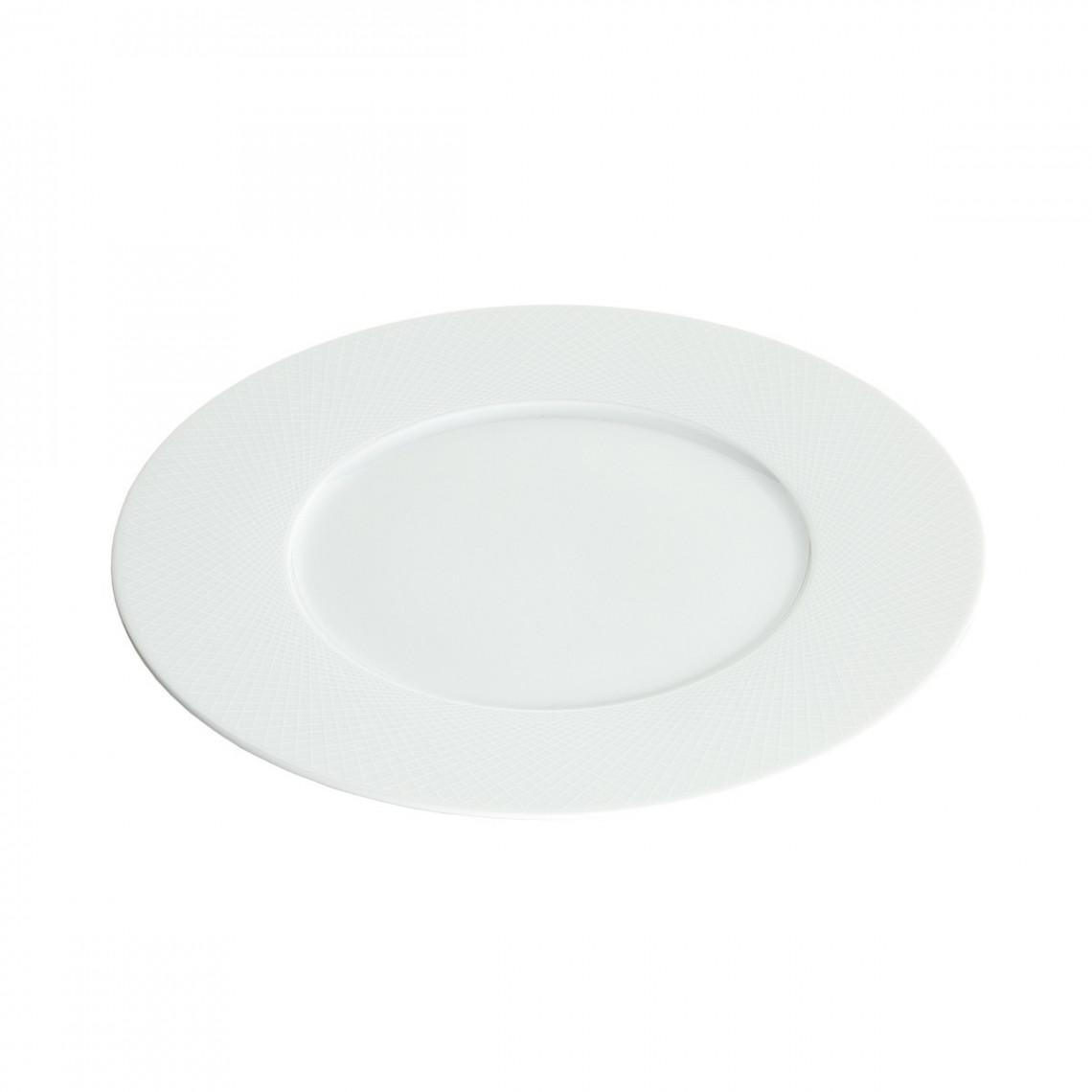 Assiette repas Graphic blanche (Ø28)