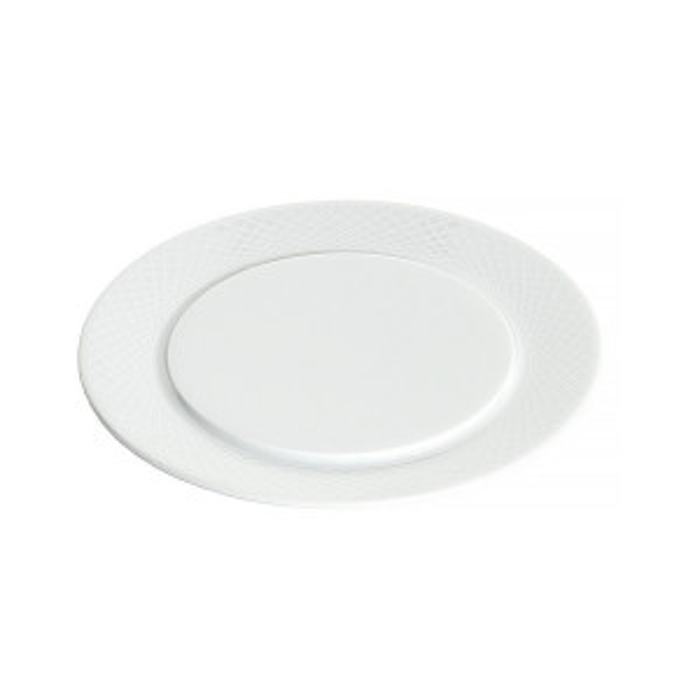 Assiette à pain Graphic blanche (Ø14)