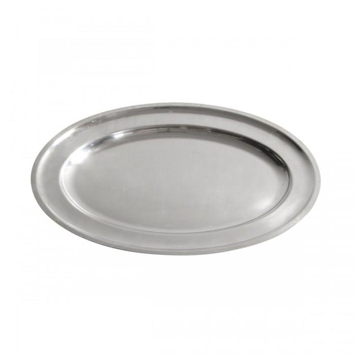 Plat ovale argent (60 x 37 cm )