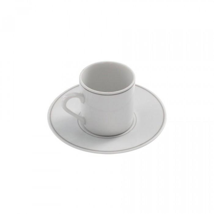 Tasse à café Filet Gris