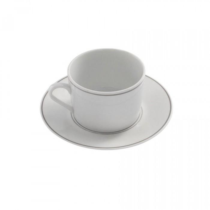 Tasse à thé Filet Gris