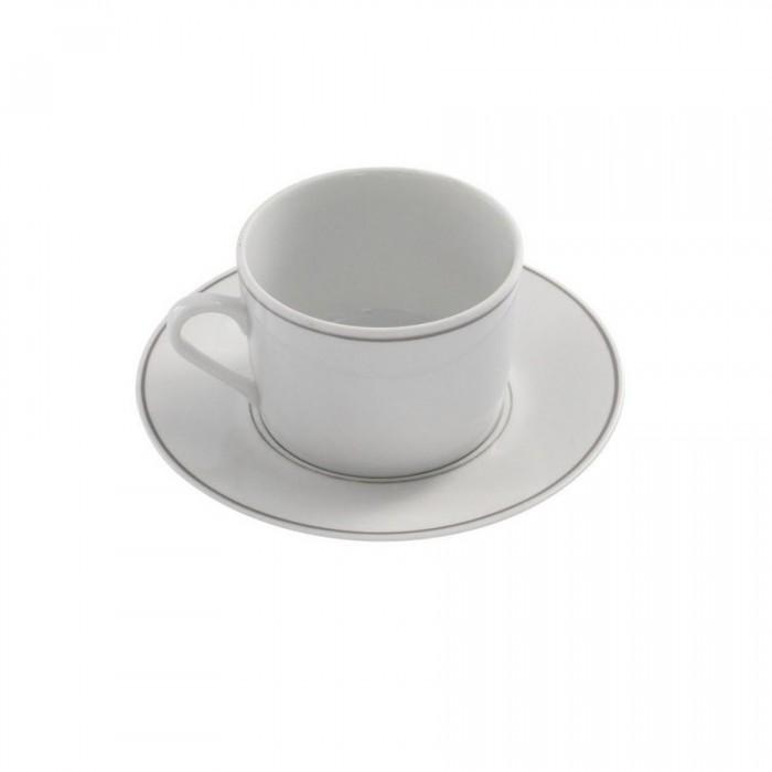 Sous-tasse à thé Filet Gris