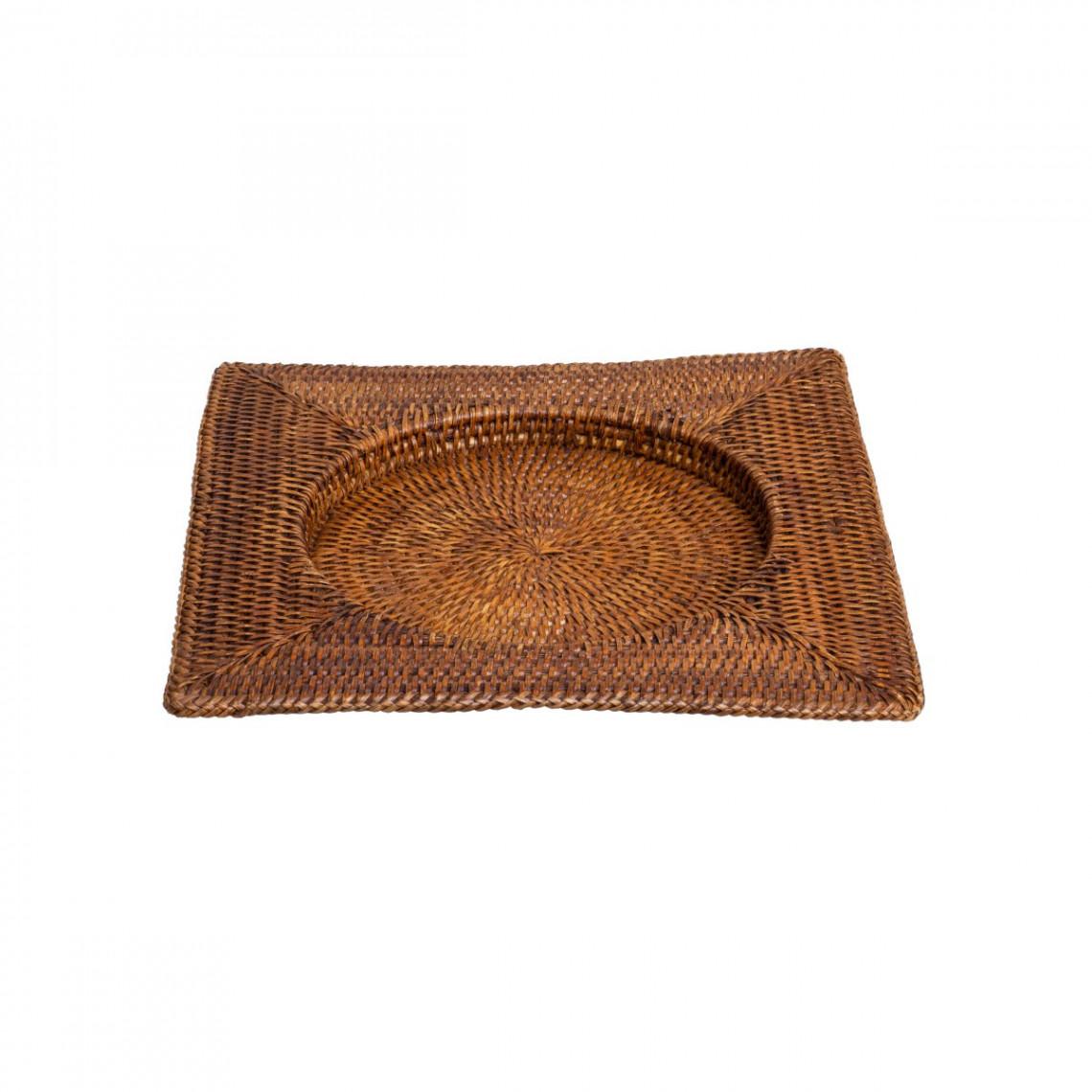 Sous-assiette carrée en rotin Safari (32 x 32 cm)
