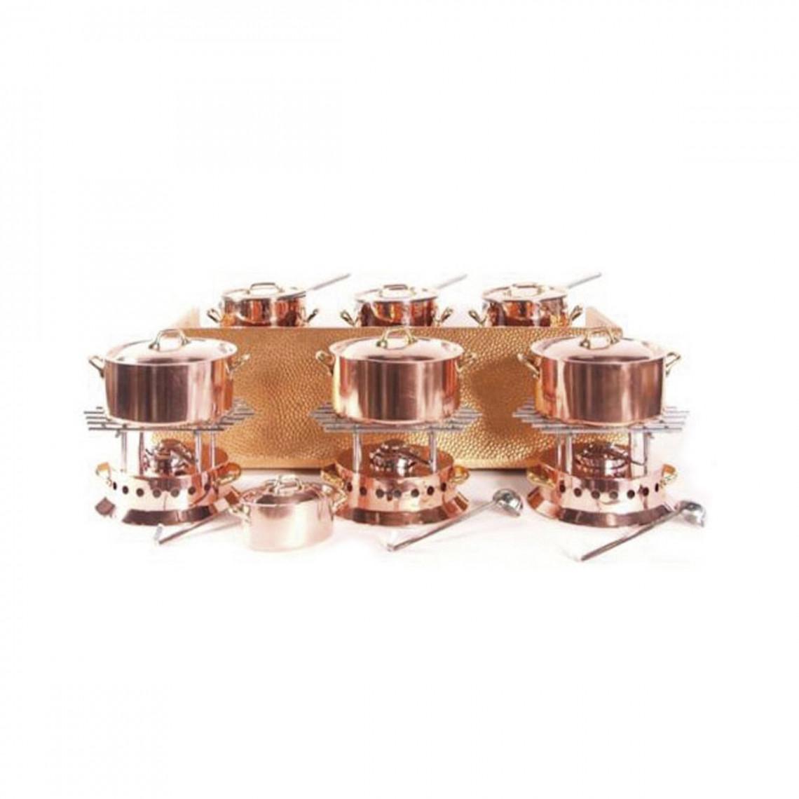 Buffet à pâtes 3 postes en cuivre (électrique)